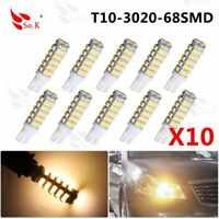 10X Warm White T10/921/194 68SMD RV Camper Trailer Backup Reverse LED Light Bulb