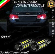 LAMPADE RETROMARCIA 13 LED T15 W16W CANBUS CHEVROLET CRUZE NO ERROR