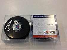 Rick Nash Signed Hockey Puck NY New York Rangers PSA DNA COA Autographed b