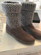 Miss Grant Knitted And Suede Casual Ankle Boots Size 6 Bnwb
