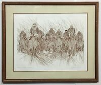 RARE! SOLD OUT!! GUILLAUME AZOULAY PREAKNESS AP HAND SIGNED ETCHING FRAMED COA