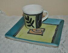 GABRIELLE SCHAFFNER Ceramics Set ESPRESSO CUP+SAUCER HAND MADE PAINT OOAK #4