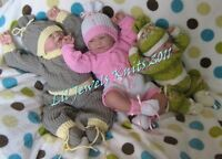 Honeydropdesigns * Triple Trouble * PAPER KNITTING PATTERN  Baby/Reborn 3 Sizes
