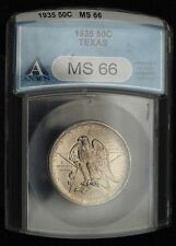 1935 Texas Comm. Half Dollar ANACS MS 66  (B9712)