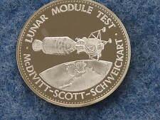Danbury Mint Apollo IX Lunar Module Test 1969 Sterling Silver Art Medal B8041