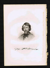 Nathaniel Parker Willis Author-Poet -1855 Steel Engraved Print