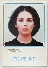L' HISTOIRE D' ADELE H. MOVIE PROGRAM BOOK 1976 Isabelle Adjani Robinson JAPAN