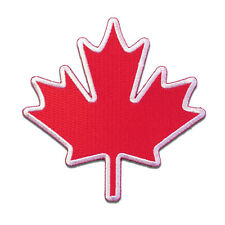 Embroidered Canada Canadian Maple Leaf Sew or Iron on Patch Biker Patch