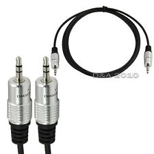 Pro 5Ft 3.5mm 1/8 Male Jack To Male Plug Extension AV Audio OFC Cable Ipod Mp3