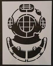 "Navy Dive Helmet Diver Helmet 8.5"" x 11"" Custom Stencil FAST FREE SHIPPING"