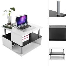 Couchtisch Wohnzimmertisch Beistelltisch mit Ablage Sofa PC-Tisch 60x60x45cm SMA