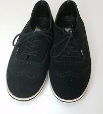 Mens Vans low top skate shoes size 7 black suede Womens Size 8.5