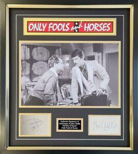 "DAVID JASON & JOHN CHALLIS -  Signed "" Only Fools and Horses ""  AFTAL OnlineCOA"