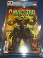 Maestro #1 Hulk #102 Homage Great Cover CGC 9.8 NM/M Gorgeous gem  Wow