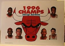 "Chicago Bulls 1996 Champs 11 x 16"" News Stand Sign Poster Michael Jordan Rodman"