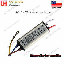Constant Current LED Driver 3-6X3W Lamp Light Bulb Waterproof Power Supply USA