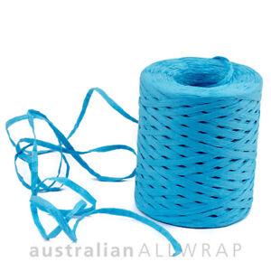 Premium SKY BLUE RAFFIA (Poly) Natural Ribbon 35mm x 200m
