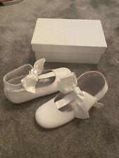 Chicas Patente Blanca zapatos talla 32 Comunión Boda V Buen Estado