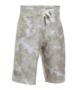 UNDER ARMOUR® Boys' 10, 14, 16,  20 White & Gray Camo Barrel Boardshorts NWT