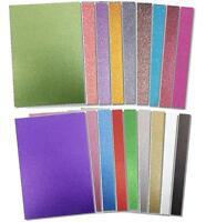 A4 Dovecraft Glitter Card Sheet Assorted Colours Card Making Scrapbooking 220gsm