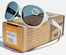 COSTA DEL MAR Blenny 580P POLARIZED Sunglasses Womens White Topaz/Gray NEW