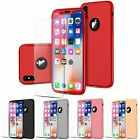 Shockproof Full Tempered Glass Case Cover For iPhone X XS Max XR 8 6 7 Plus