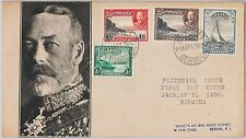56519  -  BERMUDA -  POSTAL HISTORY:  SG 98/101 on FDC COVER 1936 - ROYALTY