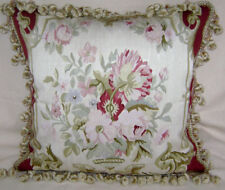 Silk Hand Crafted Aubusson Decorative Cushion Cover