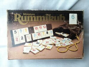 Vintage Miniature RUMMIKUB Travel Game  1981 Pressman ~ COMPLETE