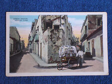 Havana Cuba/Street Vendor with 3 Wheel Cart/Printed Color Photo Postcard/1929