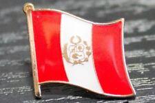 PERU Peruvian Metal Flag Lapel Pin Badge *NEW*