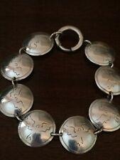 Cordillera CO Eagle Sterling Silver 8 Concho Bracelet 925 Artisan Wolfe Signed