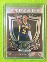 JA MORANT PRIZM ROOKIE CARD JERSEY #12 GRIZZLIES 2019 Panini Draft Picks CRUSADE