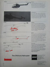 1/1976 PUB MBB HELICOPTERE BO 105 OFFSHORE HELICOPTER HUBSCHRAUBER ORIGINAL AD
