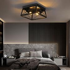 Industrial Ceiling Lighting Fixtures 2-Lights Farmhouse Flush Mount Ceiling Lamp