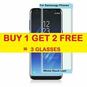 3D Tempered Glass Screen Protector Film Cover For Samsung S6 S7 EDGE PLUS S8 S9