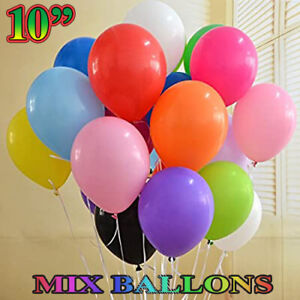 "100 LARGE PLAIN 10"" BALLOONS BALLONS helium BALLOONS Quality Bday Party BALOON"