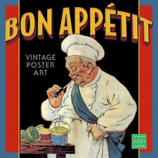 2021 Calendar Bon Appetit: Vintage Posters Art Square Wall by Sellers S09901