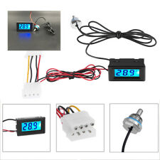 LED Digital Temperature Detector Thermometer+Fitting for PC Water Cooling System