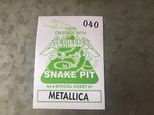 Metallica - 1991/92 - Snake Pit Pass