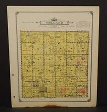 Iowa Sioux County Map Holland Township 1917  W11#49
