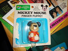 NEW ON CARD OLD STOCK MICKEY MOUSE FINGER PUPPET 694 CHILD GUIDANCE TOY