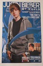"Justin Bieber REAL hand SIGNED 11x17"" My World promo poster COA #2 Autographed"