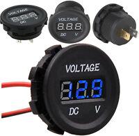 DC 12-24V Universal Car Motorcycle LED Digital Display Voltmeter Voltage Meter