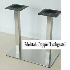 Doppel Tisch Gestell Untergestell Tischfuß EDELSTAHL Tischgestell Tischbein 22kg