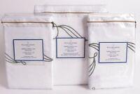 NWT Williams Sonoma Home Leaf Embroidered Linen King duvet & 2 shams Green