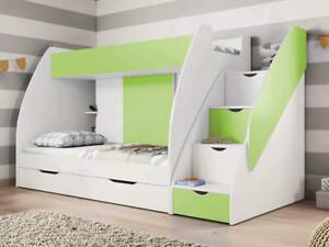 Hochbett Kinderbett MARTIN Kinderzimmer Etagenbett Doppelbett Stockbett Regal
