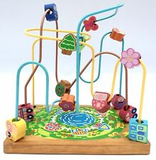 Lovely Wooden Maze with City Inspired Shapes - Very Good Condition 28 20 30