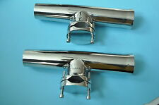 """2PCS Stainless Steel Fishing Rod Holder 1-1/4"""" to 2"""" For Boat"""