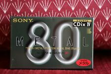 Sony CDix IV 80 Metal position cassette tape new and sealed
